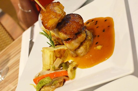 Mirador de Garachico : Pork medallions in a passion fruit sauce