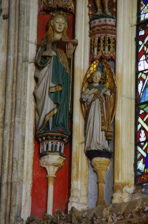 Collegiate Church of St Mary's: Painted Statues