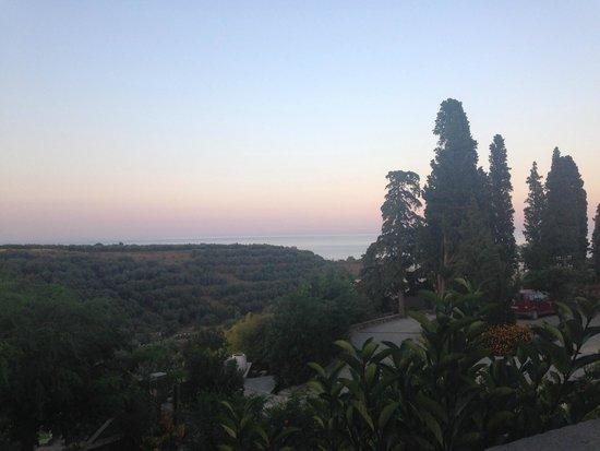 Kinsterna Hotel: View from outdoor bar/restaurant