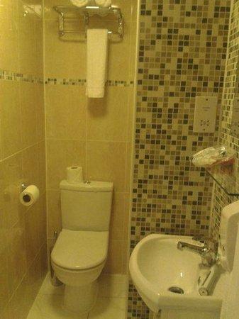 Lidos Hotel : Badezimmer mit sehr kleiner Dusche