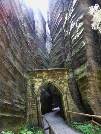 Adrspach-Teplice Rocks: wall's gate