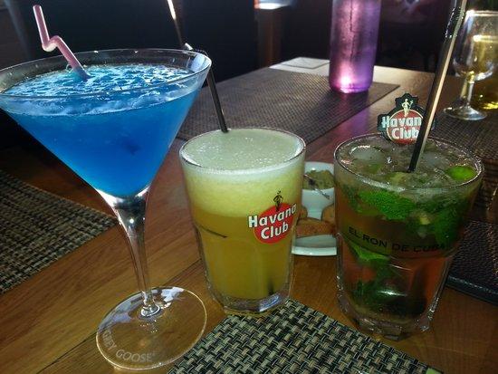 Samaná : Cocktails (blue lagoon, Samana et Mojito)