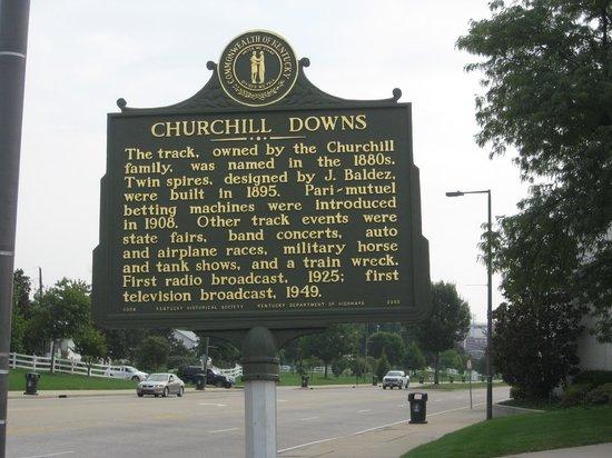 Churchill Downs : Historical marker