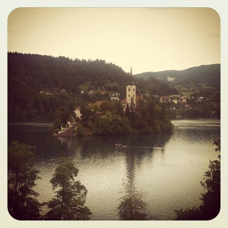 Vila Bled : View from the balcony