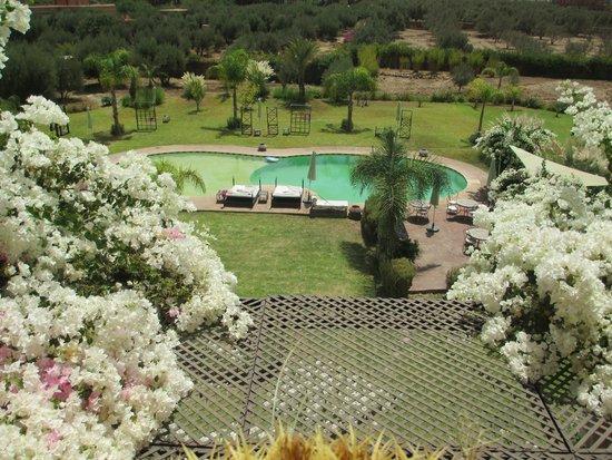 Riad Al Mendili Kasbah: vue du toit terrasse sur la piscine