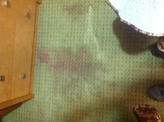 Princess Motel of Maryville: Stains on floor of room