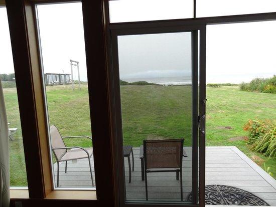 Wayside Lodge: Uitzicht vanuit de zitkamer op de Pacific Ocean