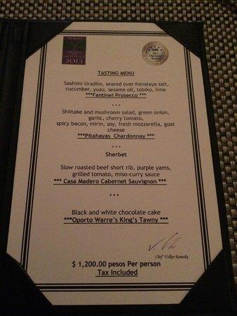 Hacienda del Mar Los Cabos: Pitahayas private wine cellar tasting menu