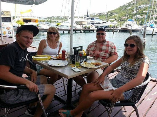 Dinghy Dock Bar OP: great lunch!