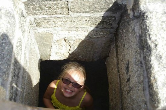 Fort Matanzas National Monument: Climbing up to the roof!