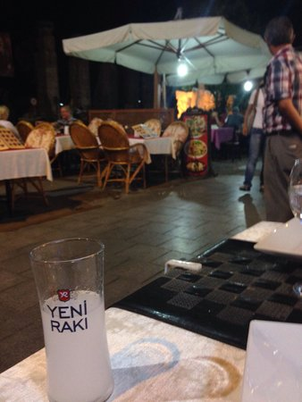 Ejder : Raki with view of the pedestrian street