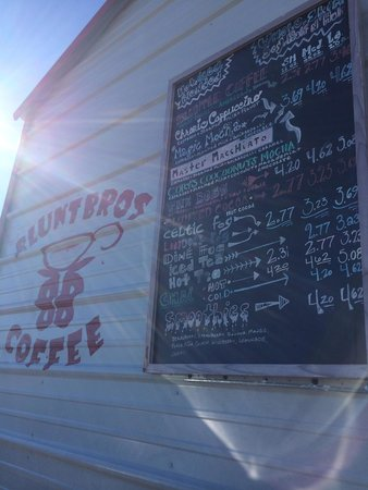 Blunt Bros Coffee : Great menu!
