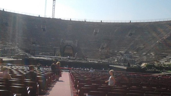 Arena di Verona: arena dentro