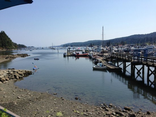 View of Ganges Harbour, Salt Spring Island from Moby's Pub  |  124 Upper Ganges Road, British Co