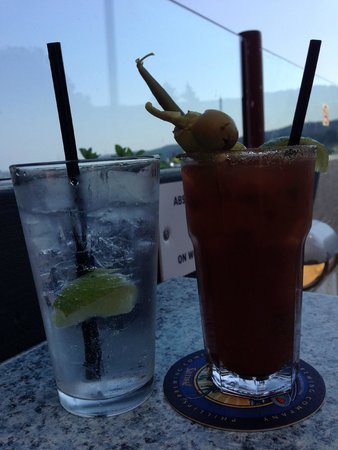 Caesar and tonic, Moby's Pub  |  124 Upper Ganges Road, British Columbia V8K 2S2, Canada