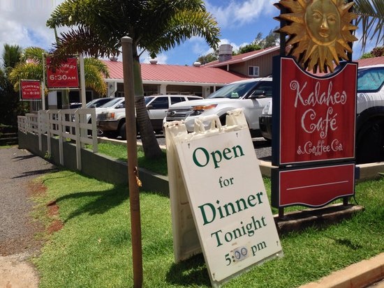 Kalaheo Cafe & Coffee Company: hard to find a parking spot, I know.