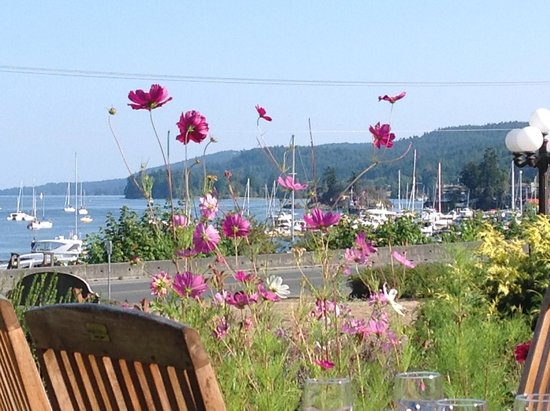 Woodley's - Harbour House Restaurant: View of Salt Spring's Ganges Harbour,Harbour House Restaurant  |  121 Upper Ganges Rd, British C