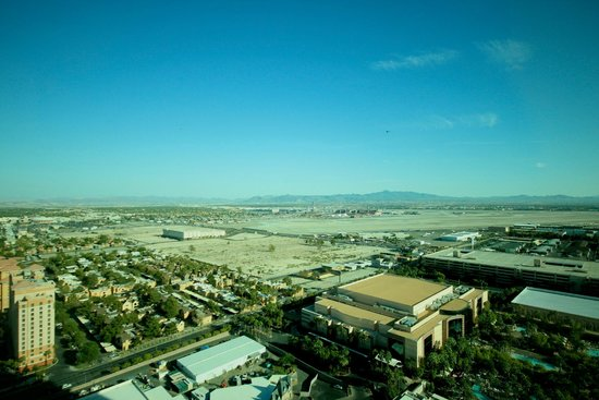 Signature at MGM Grand: The view from the room - Could have been better, could have been worse