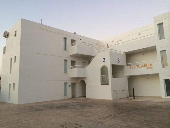 Polycarpia Hotel: Вид на апартаменты