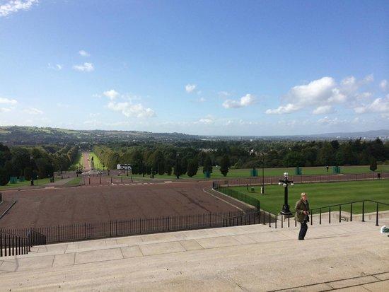 Parliament Buildings: View across Belfast from the front door!