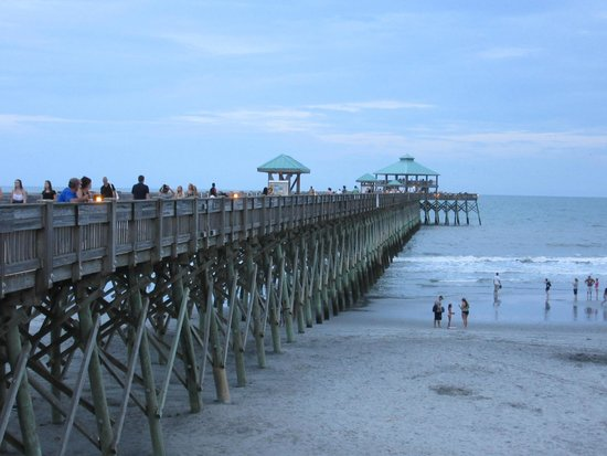 Flag installments picture of folly beach fishing pier for Carolina beach fishing pier