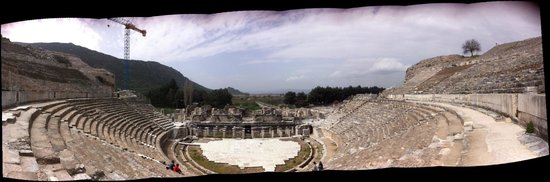 Efes Antik Kenti Tiyatrosu: Ephesus - A panoramic picture