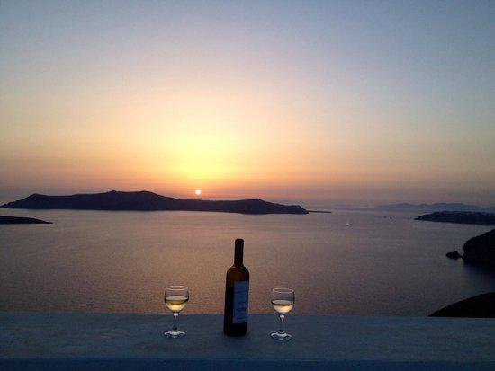Archontiko Santorini: Sonnenuntergang