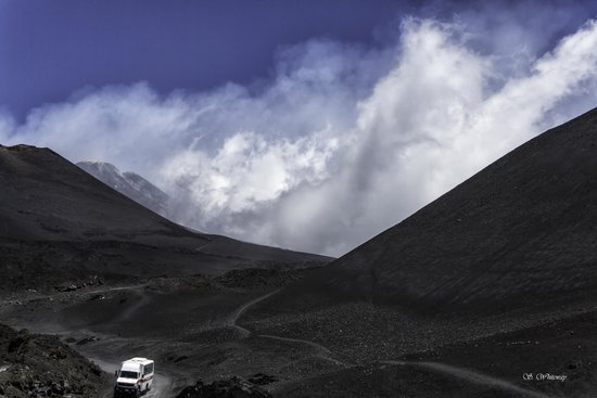 Clouds around Mount Etna