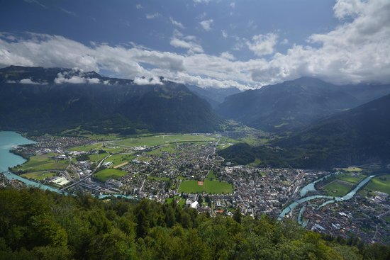 Hotel Roessli : Interlaken from Harder Kulm
