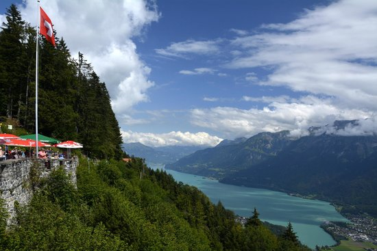 Hotel Roessli : Lake Brienz from Harder Kulm