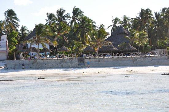 Casa Del Mar Hotel Jambiani : L'hotel vue de la mer