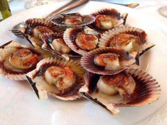 Restaurante Xoina: Zamburiñas a la plancha