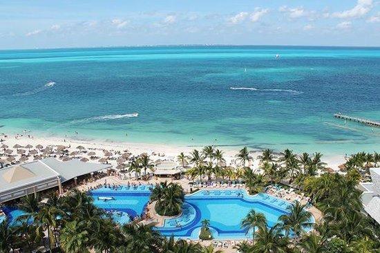 Hotel Riu Caribe : Esta es la vista desde el último Piso.
