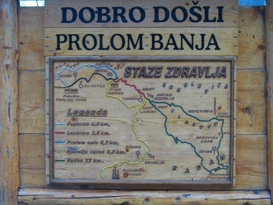 Karta Mestnosti Picture Of Hotel Radan Prolom Banja Tripadvisor