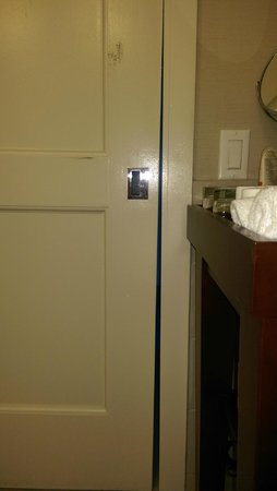 The Westin Pasadena: Broken Door Slider