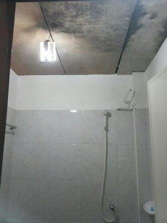 Asia Divers Resort : Il bagno...assi di legno, umidità e fili scoperti...ah è in un sottoscala!