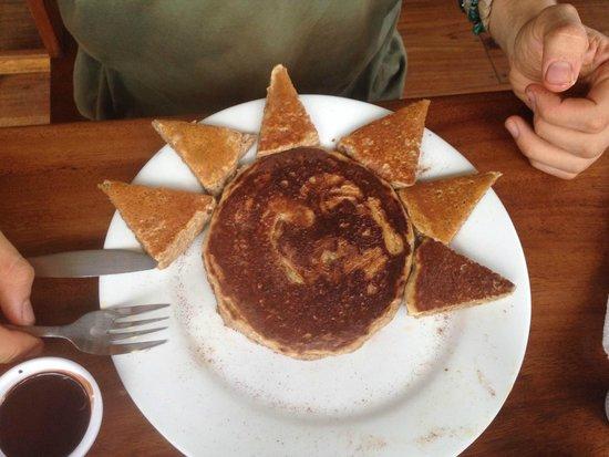 Bread & Chocolate : Oatmeal Pancake with Chocolate Sauce