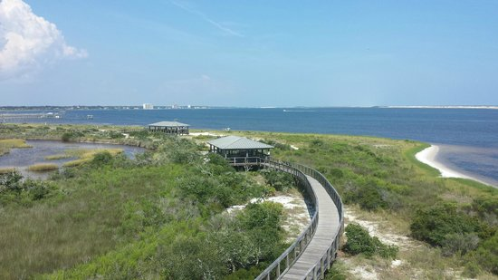 Big Lagoon State Park: Big Lagoon offers pavilions, as well as access to the birdwatching tower I'm on