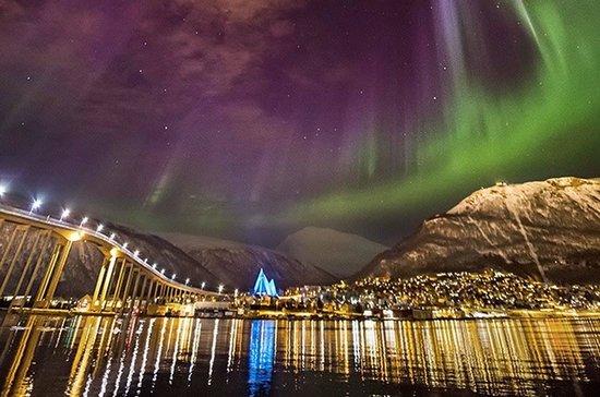 Northern Lights From Outside Troms 248 City Bilde Av