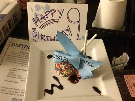 Distrikt Hotel New York City: Birthday treat