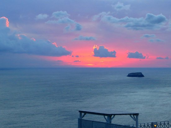Celestia Grand: sunset view from our villa