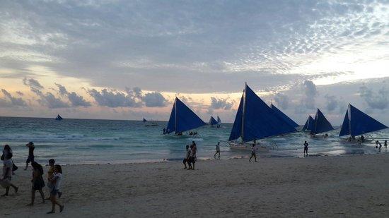 sunset at white beach ♥