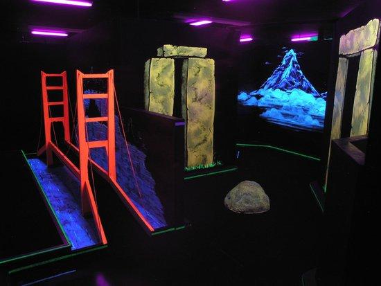 Laser Mania Family Fun Center: Blacklight Miniature Golf