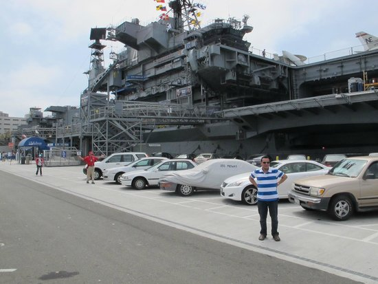 USS Midway Museum: Entry to the Midway from the parking lot