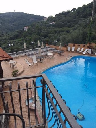 Hotel La Vue D'Or: shot of the pool from room 154