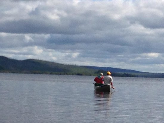 Gunflint Pines Resort & Campgrounds: On Gunflint Lake leaving the Pines dock