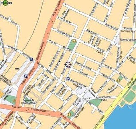 Hotel Nash Ville: Map