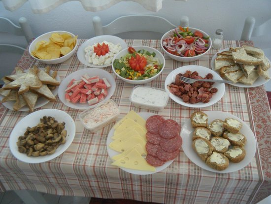 Lenaki: our once only annual lunch...amazing what you can do in the small kitchen