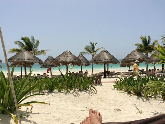 Secrets Maroma Beach Riviera Cancun: View from Free Swinging Beds