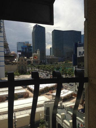 The Cromwell: What the view from the Luxury King Room with a strip view looks like